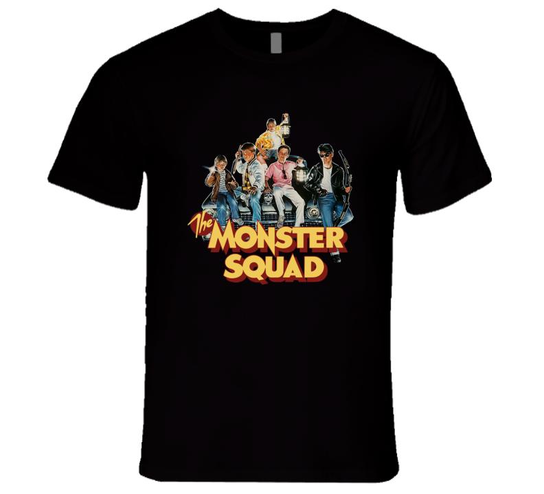 The Monster Squad Retro Rare Classic 1980's Dracula Wolfman Movie T Shirt