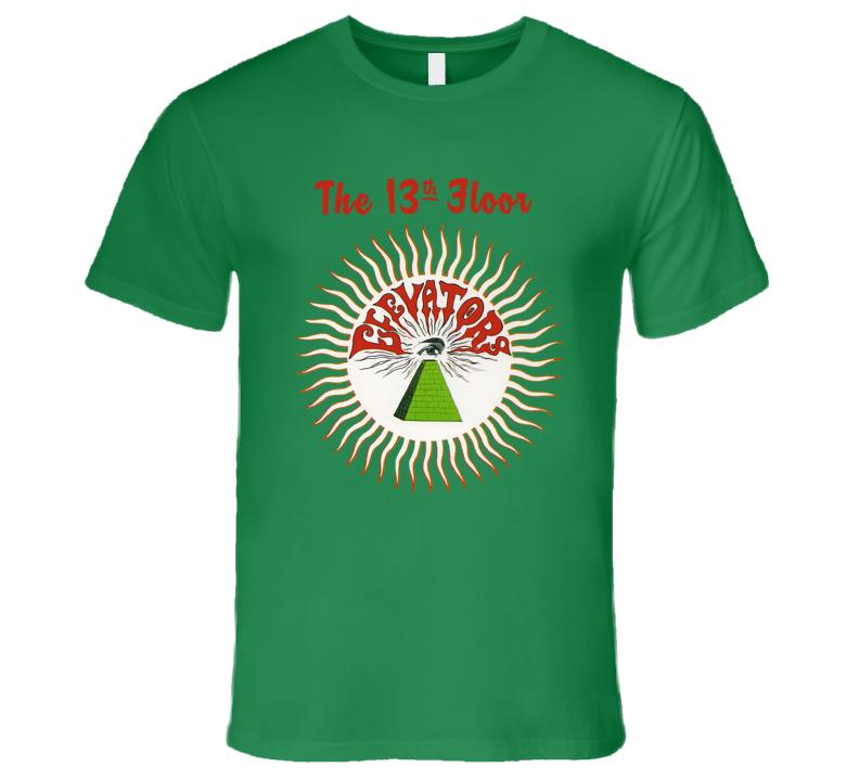 The 13th Floor Elevators Green T Shirt Reissue