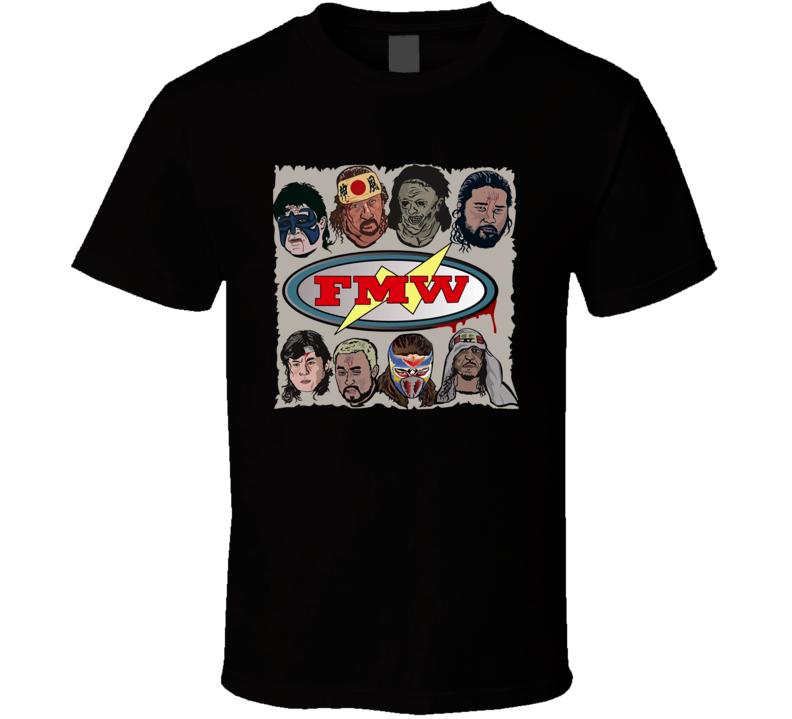 FMW Hall of Fame Retro Classic Rare Wrestling T Shirt REISSUE