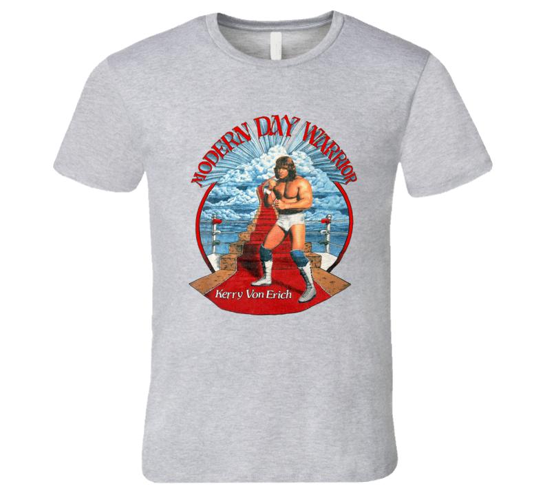Kerry Von Erich Modern Day Warrior Retro Wrestling T Shirt REISSUE