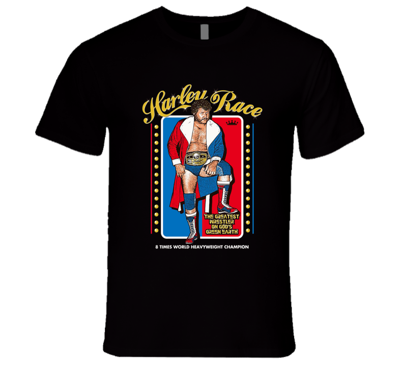 Harley Race Classic Retro Wrestling T Shirt Reissue