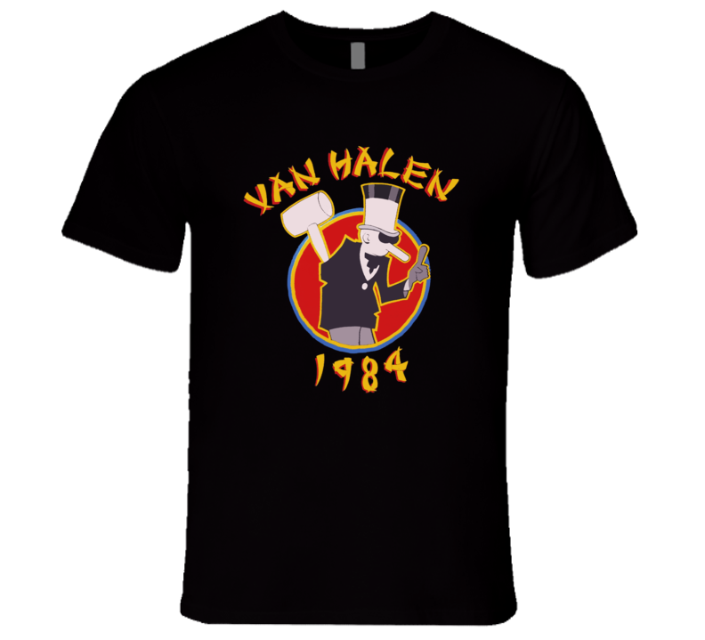 Van Halen 1984 Eddie Van Halen Tour Retro Classic T Shirt REISSUE