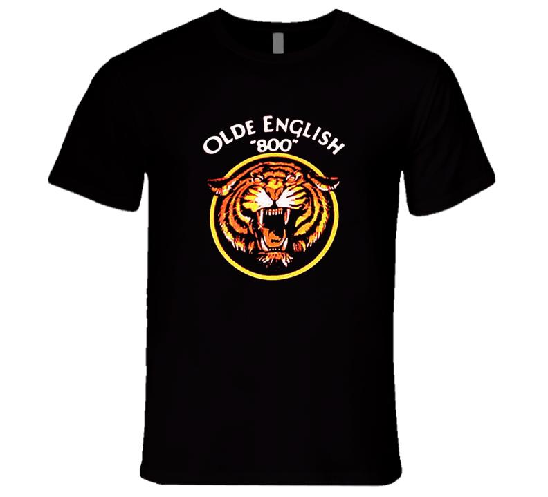 "Olde English ""800"" Malt Liquor Tiger Retro T Shirt REISSUE"