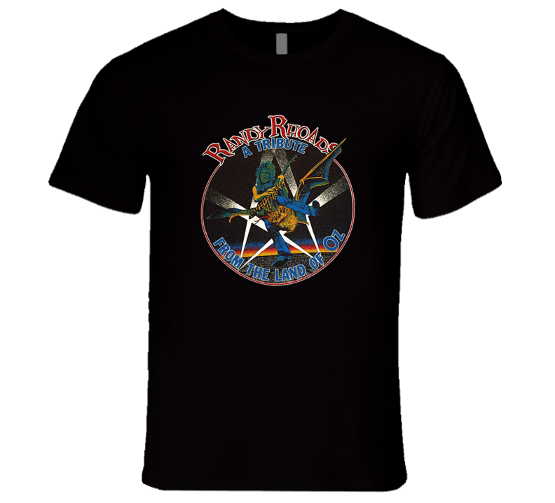 Randy Rhoads Tribute From The Land of Oz Retro Classic Rock Music T Shirt REISSUE