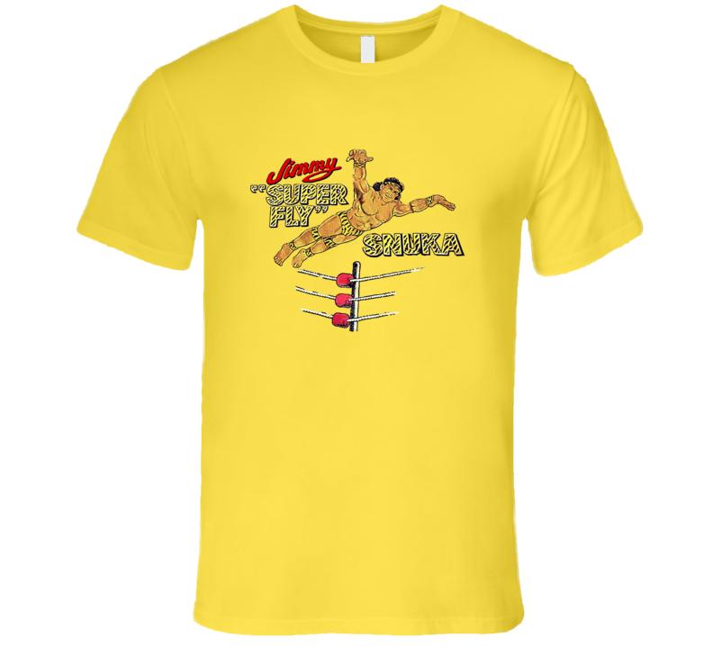 Jimmy Super Fly Snuka Classic Retro Rare Wrestling T Shirt REISSUE