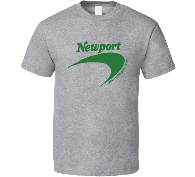 Newport Cigarettes Classic Retro Advertising T Shirt REISSUE