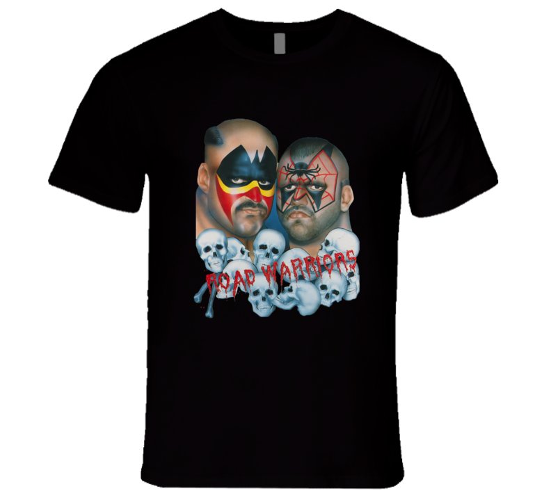Road Warriors Retro NWA Wrestling T Shirt REISSUE