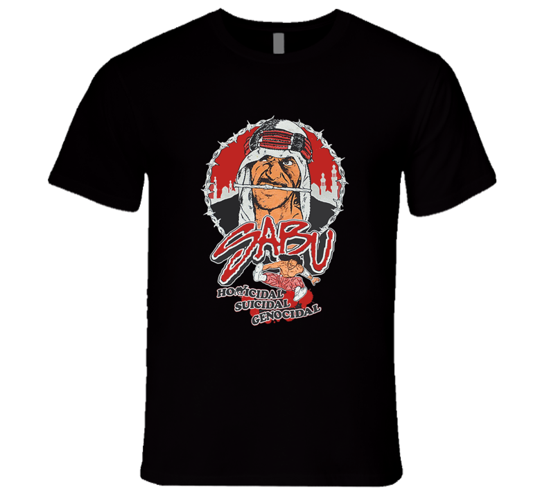 Sabu Homicidal Suicidal Genocidal ECW Retro Classic Rare Wrestling T Shirt REISSUE