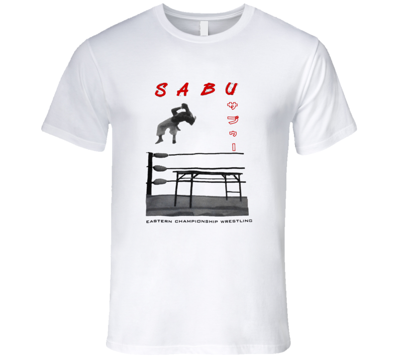 Sabu ECW Rare Retro Classic Wrestling T Shirt REISSUE