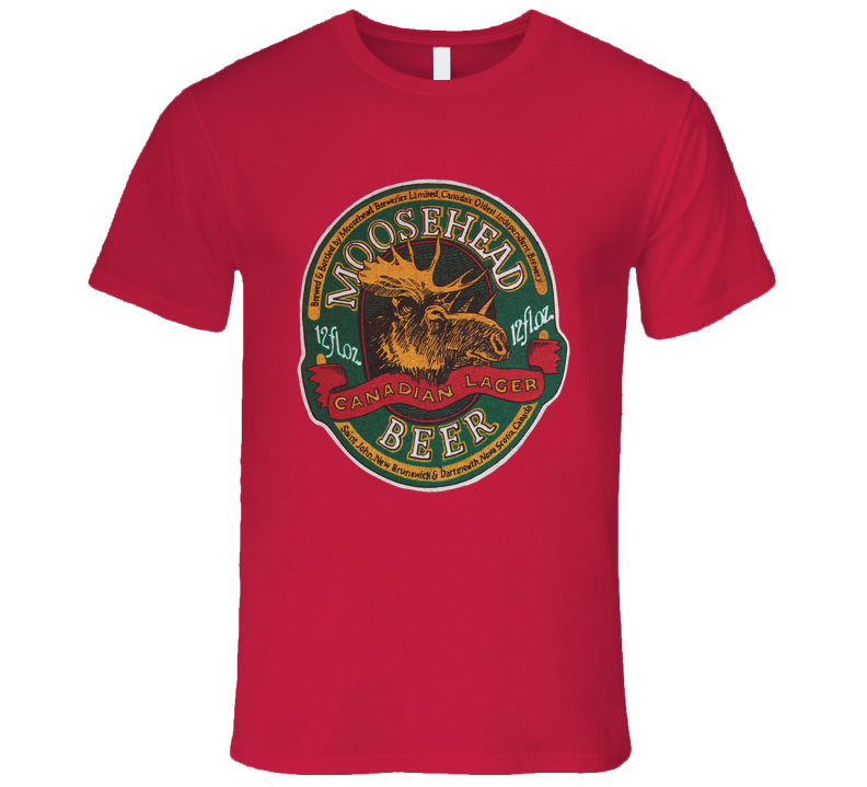Moosehead Beer Retro Advertising Canadian Beer T Shirt REISSUE