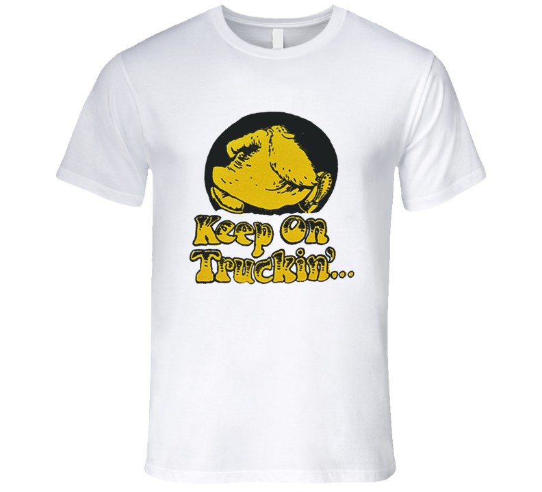 Keep On Truckin' Mr. Natural Robert Crumb Classic Comic T Shirt