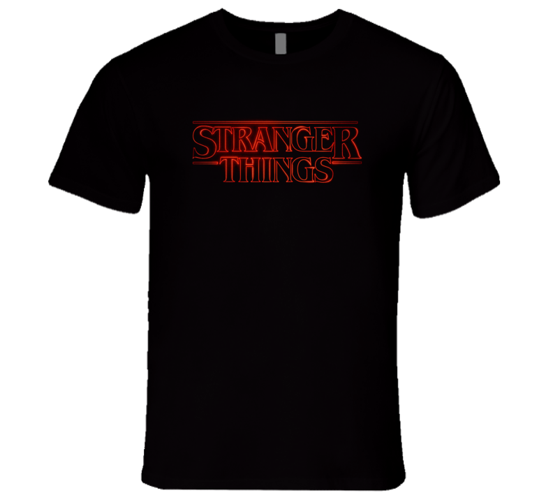 Stranger Things HBO Show Opening Credits Logo T Shirt