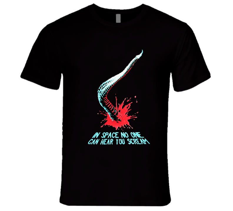 Aliens Chestburster In Space No One Can Hear You Scream Movie Promotional T Shirt