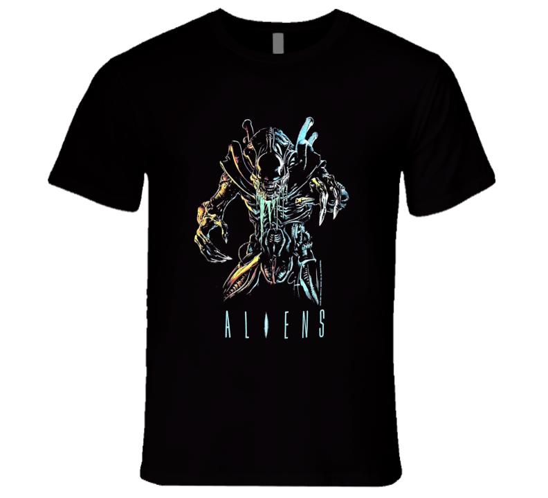 Aliens Classic Sci Fi Movie T Shirt
