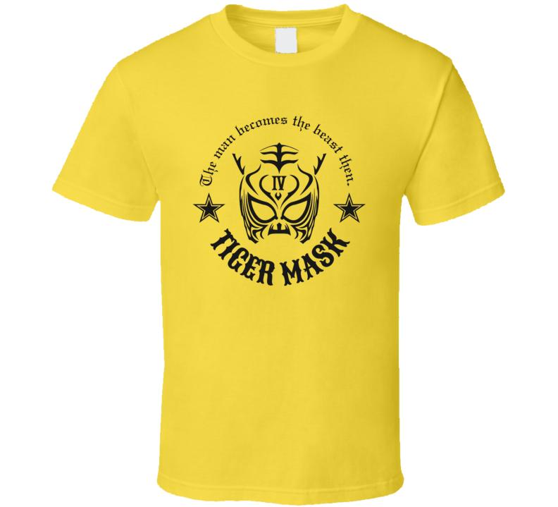 Tiger Mask NJPW WWE WWF Retro Classic Wrestling T Shirt
