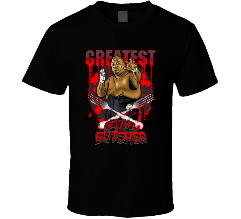 Abdullah The Butcher WWE WCCW ECW Classic Retro Hardcore Wrestling T Shirt
