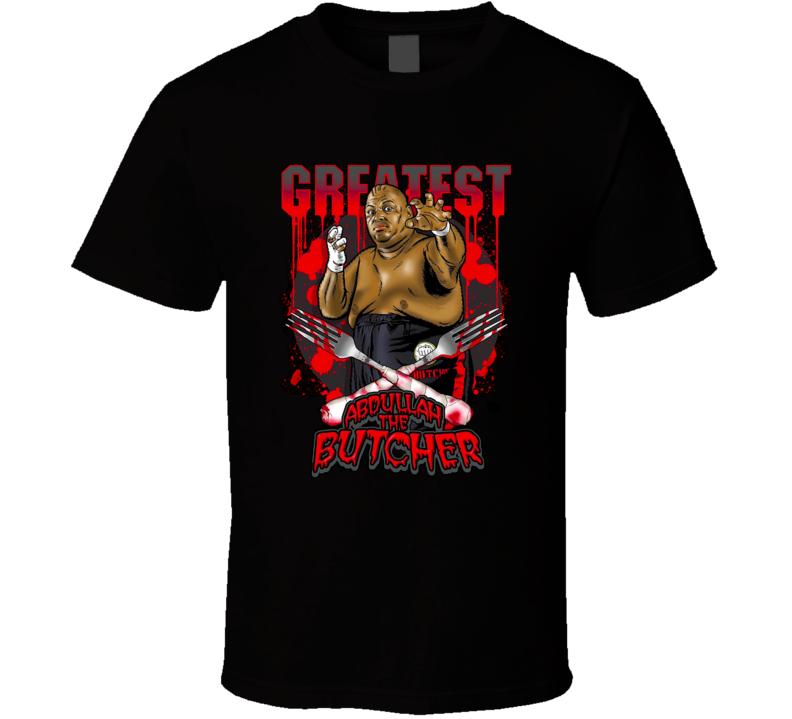 Abdullah The Butcher WWE WCCW ECW Classic Retro Hardcore Wrestling T Shirt