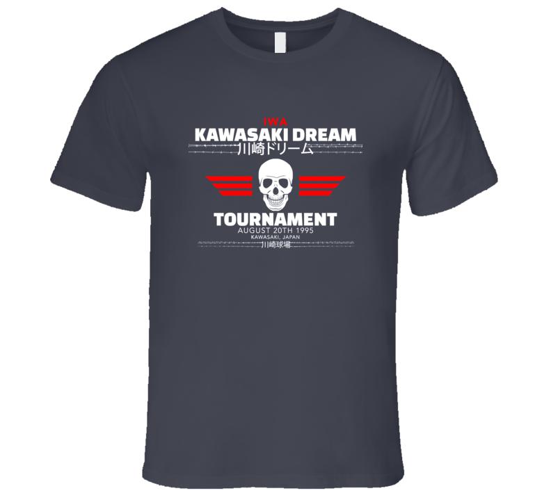 Kawasaki Dream Tournament IWA August 20th 1995 Hardcore Classic Wrestling T Shirt