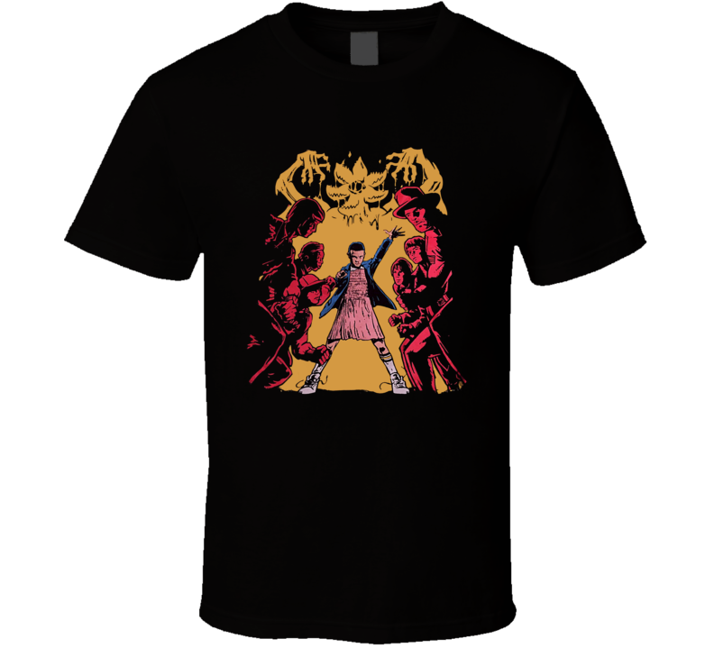 Stranger Things Characters Comic Style Eleven TV Show T Shirt
