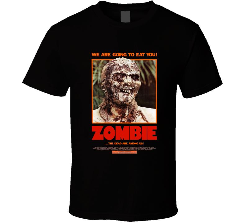 Zombie Classic Horror Italian Lucio Fulci Zombi Movie Poster T Shirt