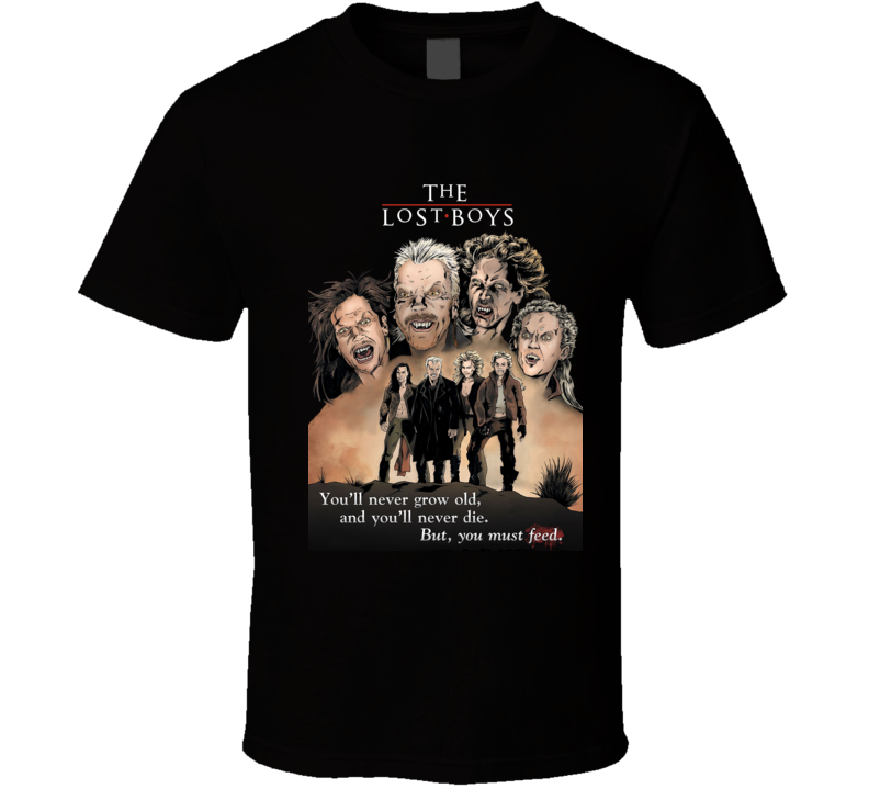 The Lost Boys Graphic Art Classic Movie T Shirt