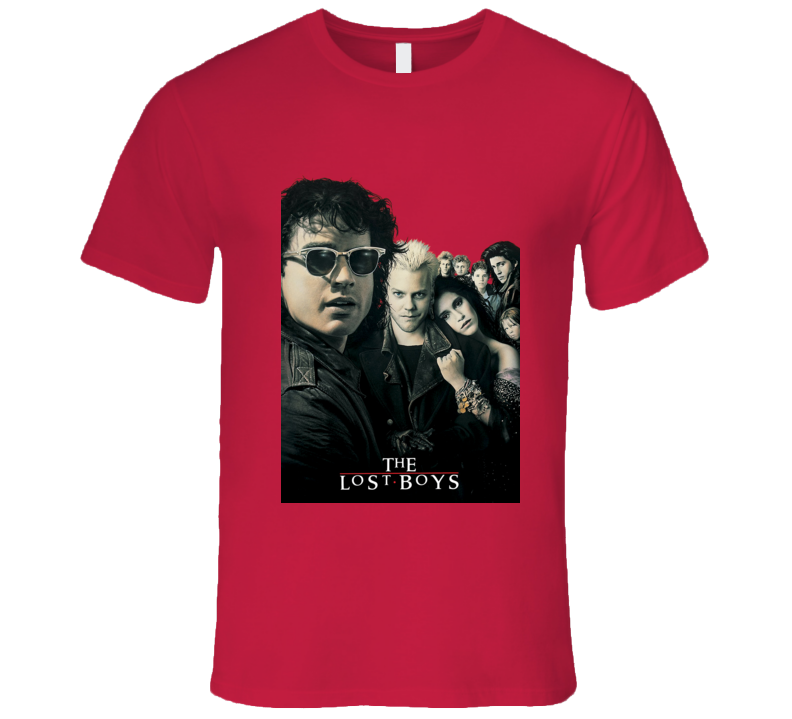 The Lost Boys Movie Poster Classic Red T Shirt