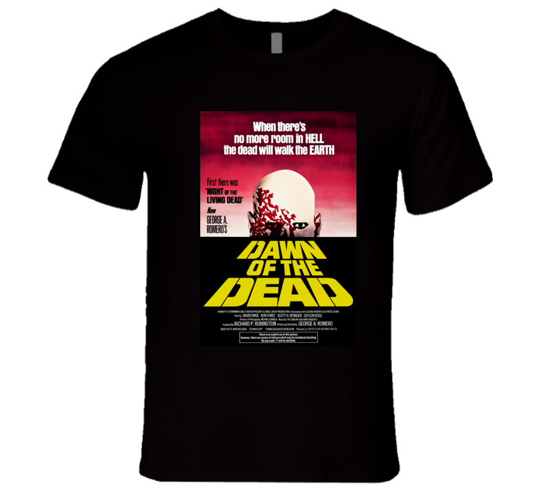 Dawn of the Dead Classic Horror Movie Poster T Shirt