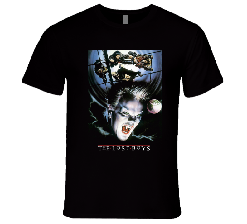 The Lost Boys Graphic Art Alternative Cover Classic Movie Poster T Shirt