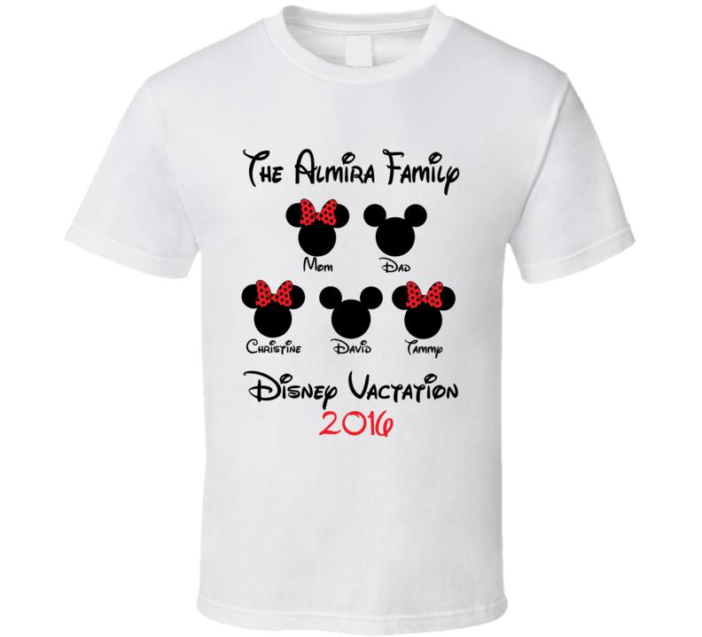 Custom Disney Family Vacation T Shirt 2016