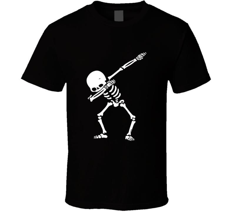Dabbing Hip Hop Skeleton  T Shirt