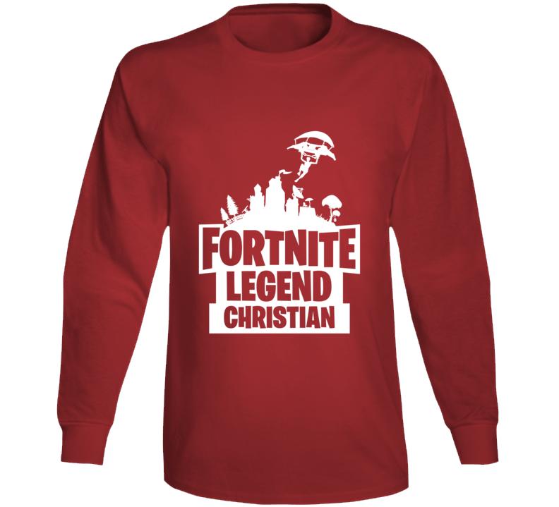 Custom Fortnite Christian Long Sleeve