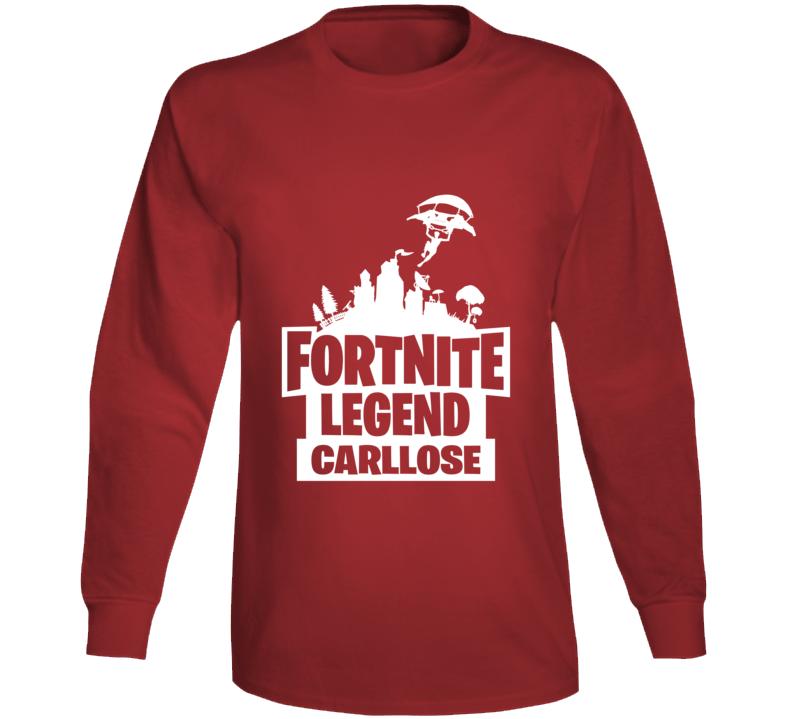 Carllose Custom Gamer Tag Long Sleeve