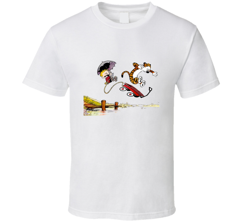 Calvin and Hobbs Jumping T Shirt