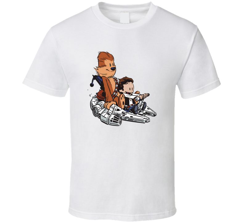 Chewie And Han Calvin And Hobbes T Shirt