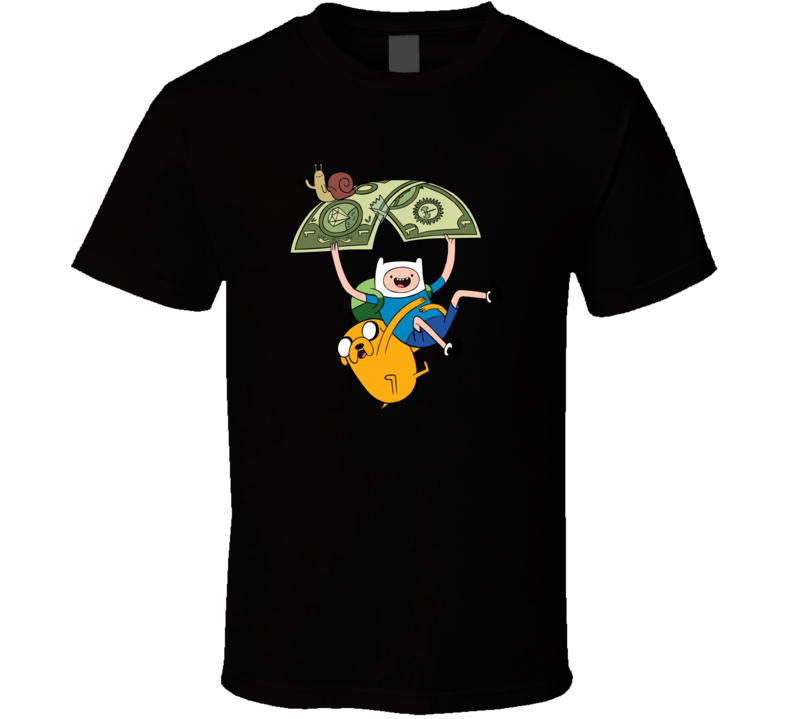 Finn and jake flying adventure time T Shirt