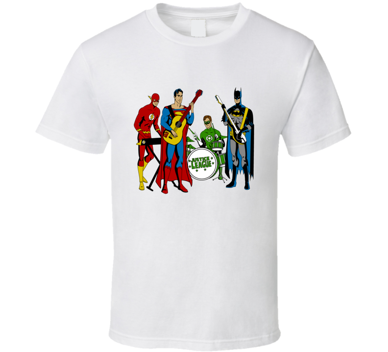 Justice League Rock Band T Shirt