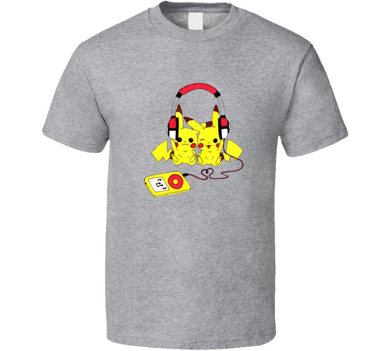 pikachu love music T Shirt