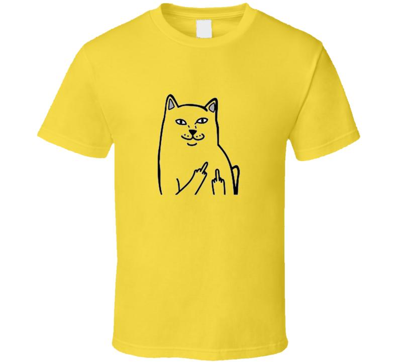 Cat Middle Finger Pocket 1 T Shirt