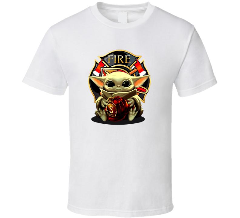 Baby Yoda Hug Fire Firefighter T Shirt