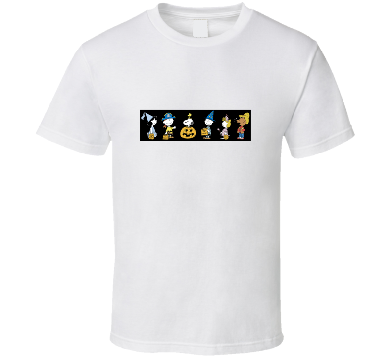 Snoopy And Charlie Peanuts Halloween T Shirt