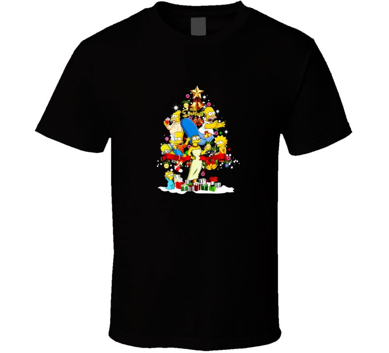 The Simpsons Christmas Tree  T Shirt