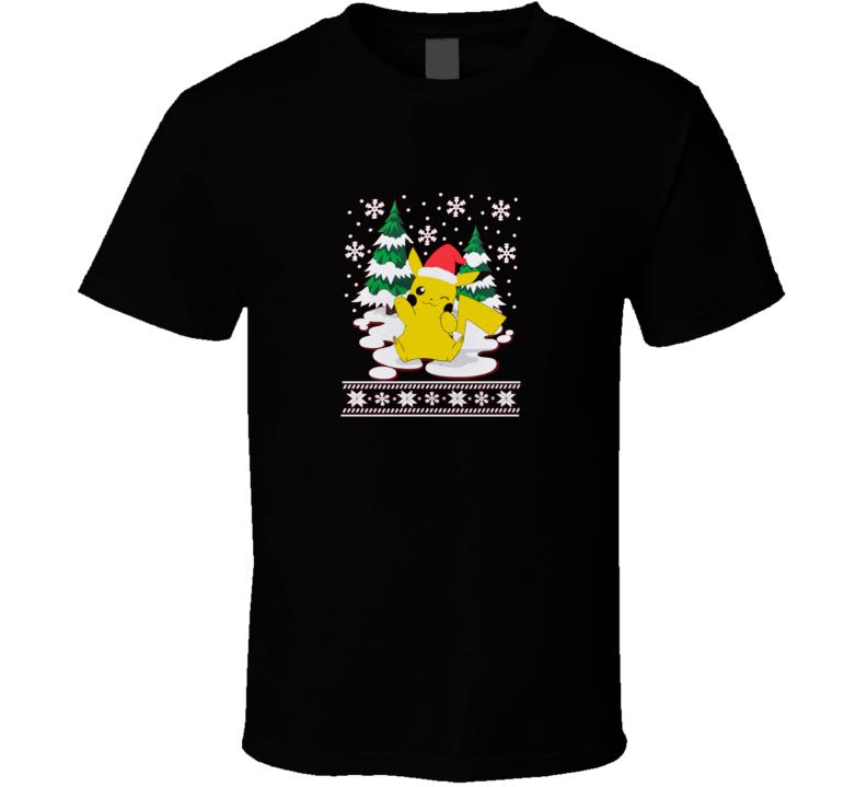 Pokemon Pikachu Christmas  T Shirt