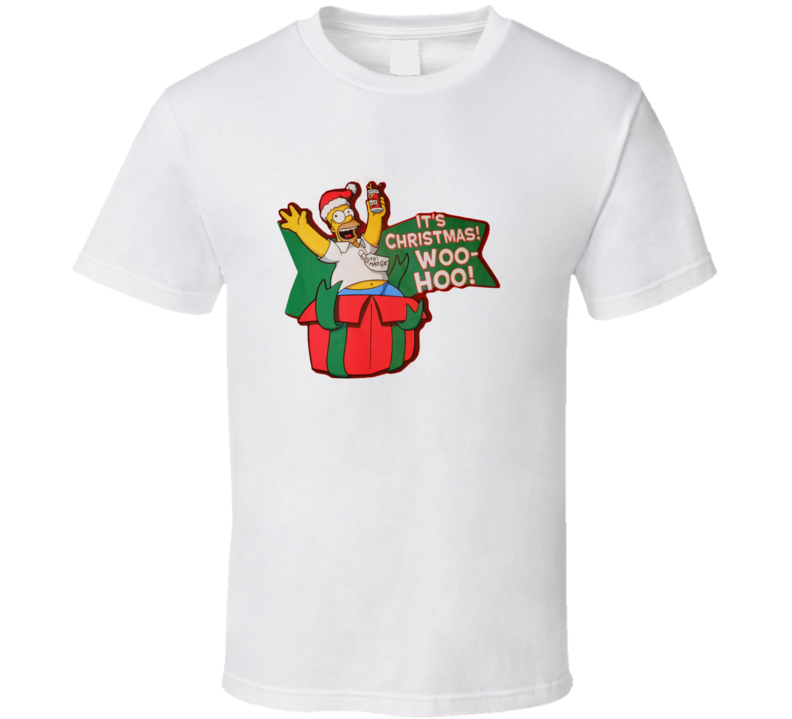 Simpsons It's Christmas Wo Ho T Shirt
