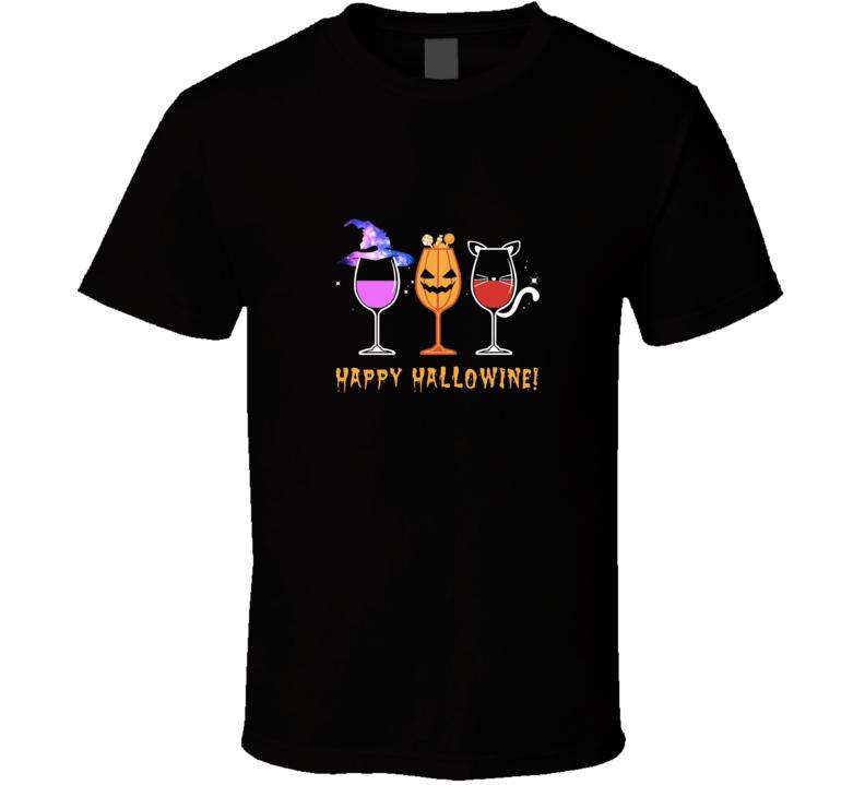 Halloween Wine  T Shirt