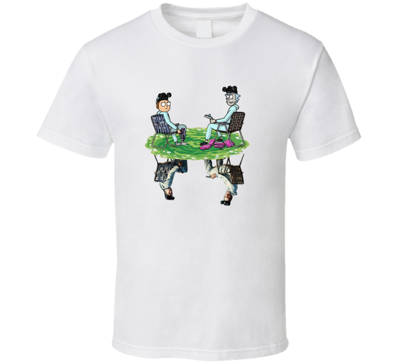 Rick And Morty Water Mirror Reflection Breaking Bad T Shirt