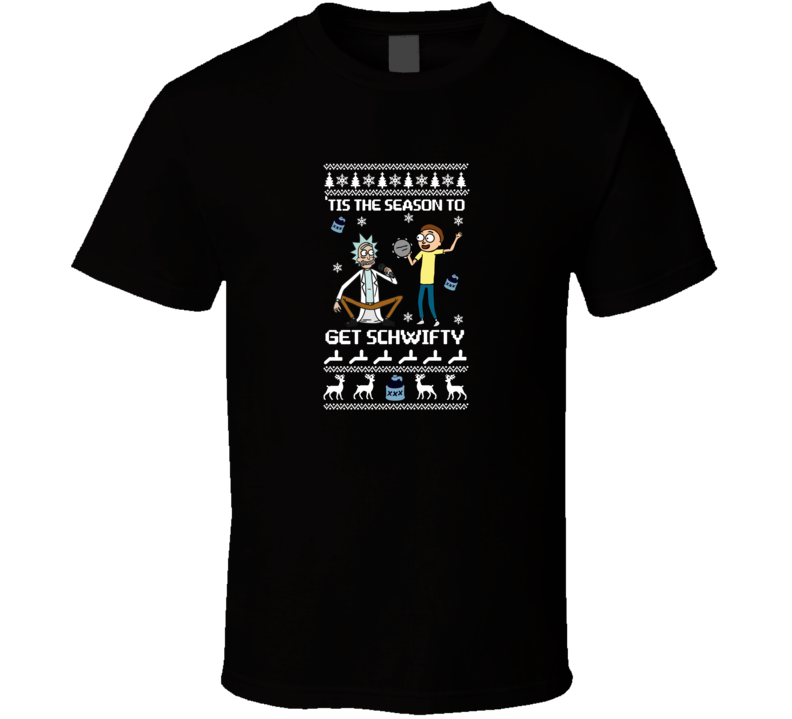 Rick And Morty Get Schwifty Christmas-ario Artwork  T Shirt