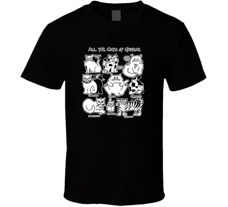 Cats Of Greece  T Shirt