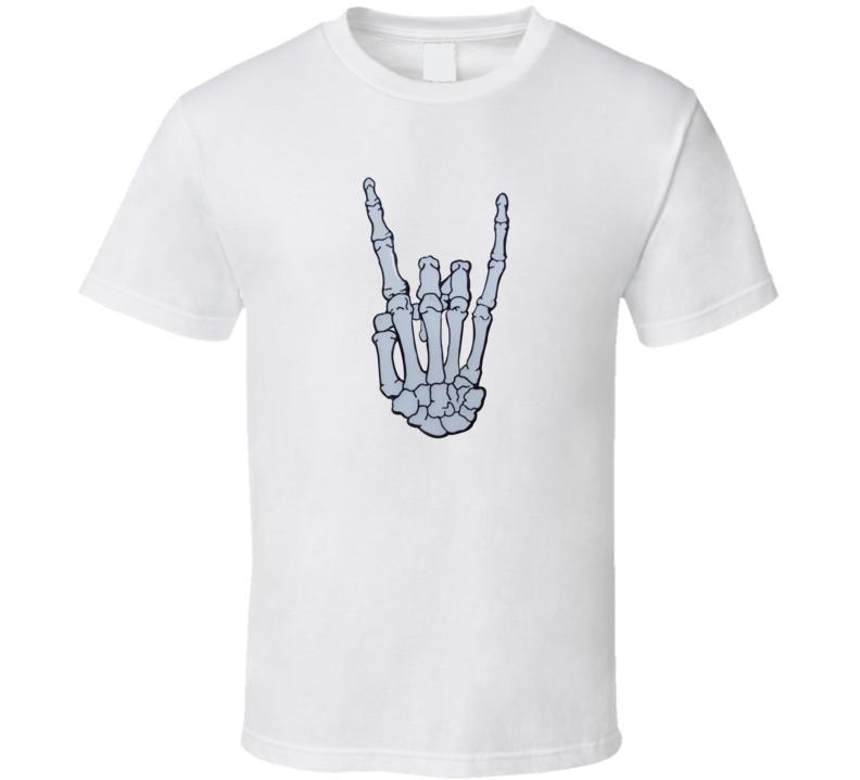 Hand Skeleton Metal T Shirt