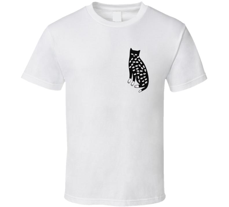 Skull Cat Funny  T Shirt