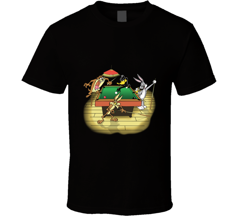 Looney Tunes Playing Pool T Shirt